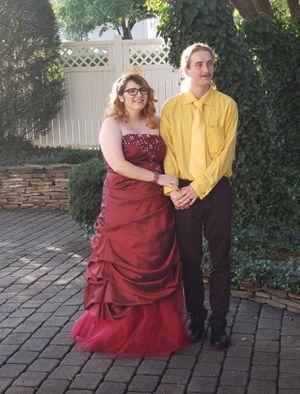 Burgundy wedding dress for Sale in Wirtz, VA