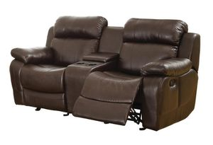 Marille Brown Bonded Leathhser Reclining Loveseat for Sale in Fairfax, VA