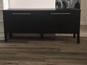 Black brown console table for Sale in Columbus, OH
