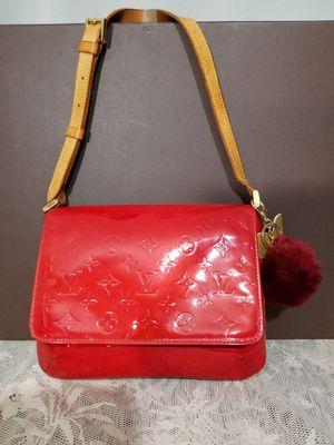 Authentic Louis Vuitton Thompson Red Vernis Shoulder Bag for Sale in Warren, MI