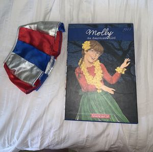 american girl doll molly full book set with skirt for Sale in Folsom, CA