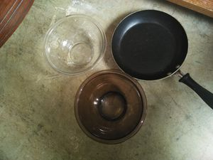 Skillet and mixing bowls for Sale in Stone Mountain, GA