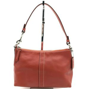 Designer Leather Small Red Handbag By Coach for Sale in Palatine, IL