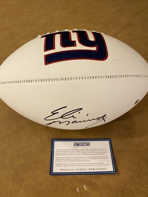 Eli manning autographed football for Sale in Jackson Township, NJ