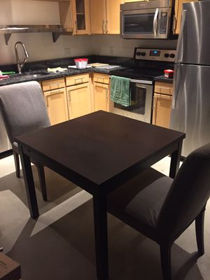 IKEA expandable kitchen table + 2 chairs for Sale in Pittsburgh, PA