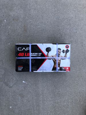 Adjustable Cast Iron dumbbell Set for Sale in Fontana, CA
