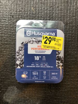 HUSQVARNA 18-inch Replacment Chainsaw Chain for Sale in Austin, TX