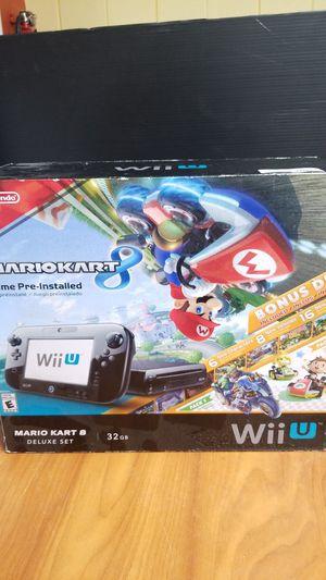 Nintendo Wii U Bundle, Brand New Mario 8 Deluxe Set Edition, Black Console, 32GB for Sale in Los Angeles, CA