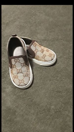 100% Auth Gucci Kids GG Print Slip-On Sneaker for Sale in Pasadena, CA