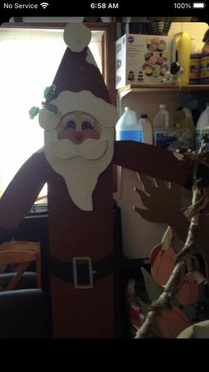 6ft Wood Santa Porch Greeter $30 JUST REDUCED MUST GO for Sale in Crestwood, IL