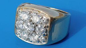 14k Gold mens custom diamond ring very heavy for Sale in Vancouver, WA