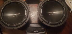 """Kenwood 400 watt amp AND Kenwood Excelon 12"""" Subwoofers (2) for Sale in Tucker, GA"""