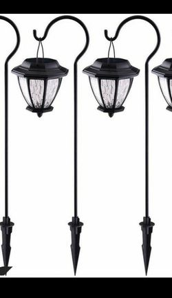 Hampton Bay 4 pack led pathway lights black matte finish for Sale in Dearborn,  MI