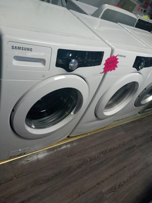 Samsung front load washer and dryer set in exelent condition w\4 \4 months warranty for Sale in Baltimore, MD