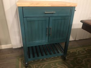Brand New Kitchen Cart - Teal Color for Sale in Fresno, CA