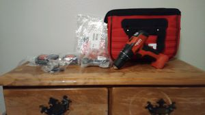 Hilti 12 v drill 2 batteries charger and bag for Sale in Fountain, CO