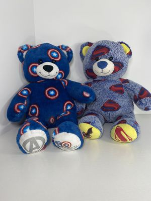 Build A Bear Captain America & Superman Plush Bears for Sale in Los Angeles, CA