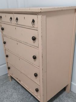 Gorgeous Wood Champagne Vintage Dresser, Chest Of Drawers for Sale in Fife,  WA