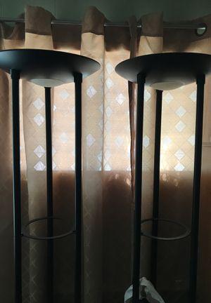 floor lamps set glass shelves one is missing light bulb for Sale in Riverside, CA