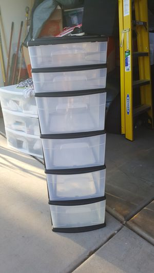 6 Drawer Plastic Container Storage for Sale in Gilbert, AZ