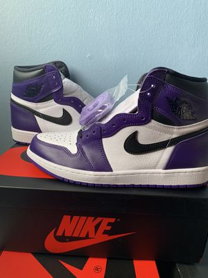 Jordan 1 court purple size 10.5 for Sale in Alexandria, VA