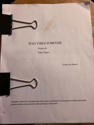 Bad Vibes Forever Screenplay for Sale in Durham, NC