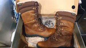 Timberland womens size 9 mount hope f/l AP tobacco leather boots for Sale in Portland, OR