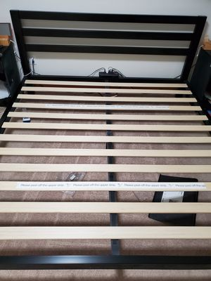 King Size Metal Bed Frame with Slats for Sale in Vernon, CT