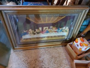 34x24 last supper vintage antique with cracks but still really cool for Sale in Chino Hills, CA