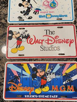Vintage Disney License Plates for Sale in Montgomery,  TX