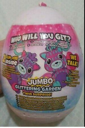 Hatchimals Mini Plush Clip-On Jumbo Glittering Garden Mystery twin surprise for Sale in Homestead, FL