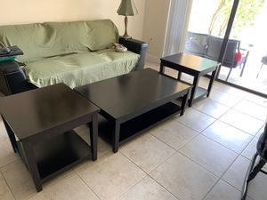 Coffee Table w/ 2 nightstands for Sale in Miami, FL