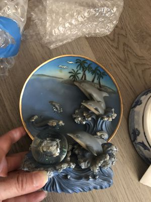 Dolphin collection - trinket boxes, plates, statues & more for Sale in Pinole, CA