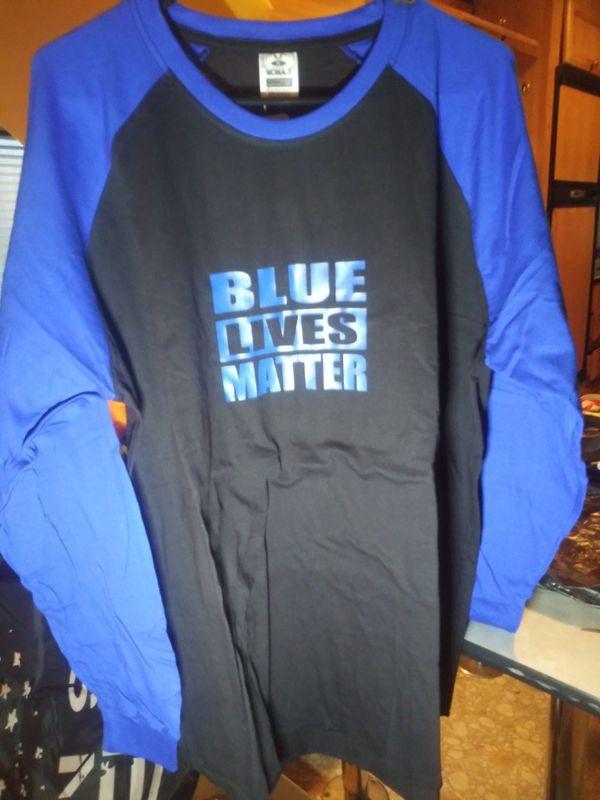 Blue Lives Matter baseball style ee shirt