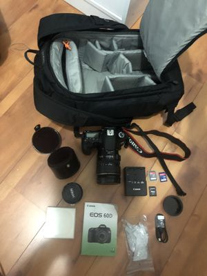 Canon 60D / 2 Lenses / SD Cards / flipside 300 Camera Backpack for Sale in Buda, TX