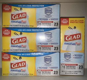 Glad Force Flex Plus Trash Bags for Sale in Mesa, AZ