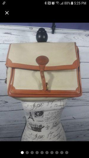 Vintage Dooney & Bourke laptop bag cream for Sale in Mission, TX