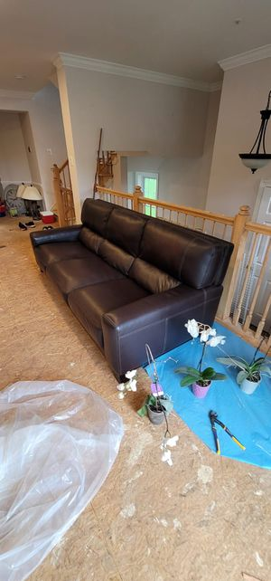 2x Italian Leather Sofas for Sale in Gaithersburg, MD