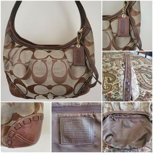 Coach Signature jacquard, refined calf leather Hobo Purse/Bag for Sale in Long Beach, CA