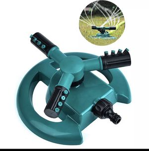 Garden Sprinklers Automatic watering Grass Lawn 360 Degree Circle Rotating Water Sprinkler Three Arm Garden Pipe for Sale in Henderson, NV