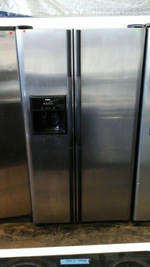 Refrigerator stainless Kenmore with black handles for Sale in Westminster, CO