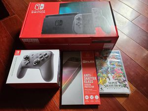 Brand new Nintendo switch bundle with Super Smash Bros Ultimate for Sale in Delair, NJ