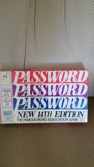 Password board game for Sale in Washington, PA