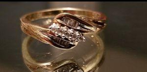 Stunning 10K yellow gold diamond ring size 7 for Sale in Lake Stevens, WA