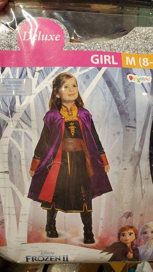 Frozen to Deluxe costume girls medium 8 to 10 for Sale in Riverside, CA