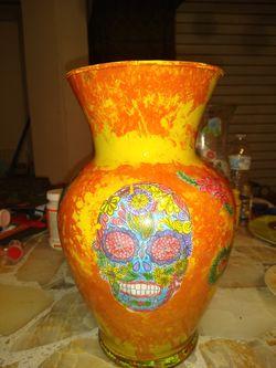 Dia de los Muertos Vase for Sale in San Angelo,  TX