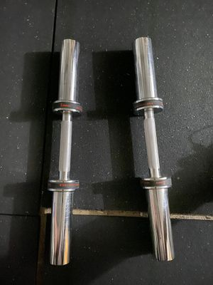 2 Olympic dumbbell handles for Sale in Rancho Cucamonga, CA