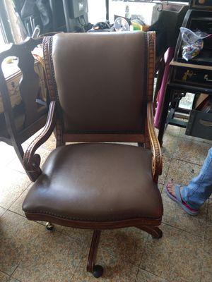 Antique Leather Desk Chair for Sale in Miami, FL