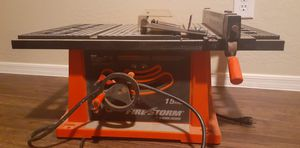 TABLE SAW POWER TOOLS FIRESTORM 10 INCH 15 AMP TABLE SAW Q for Sale in Phoenix, AZ