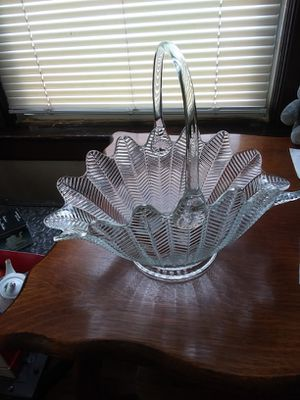 Antique glass basket for Sale in Belleville, NJ